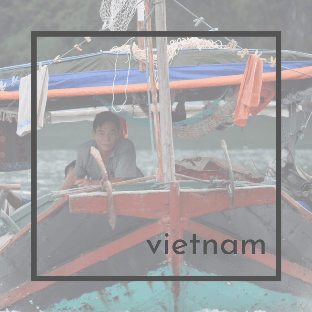 On the river in Vietnam