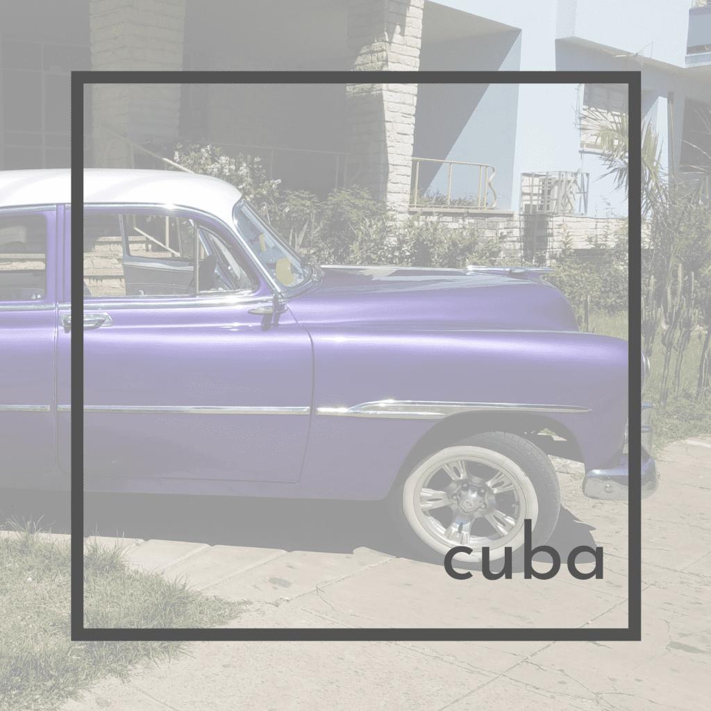 classic 1950 car in Havana Cuba